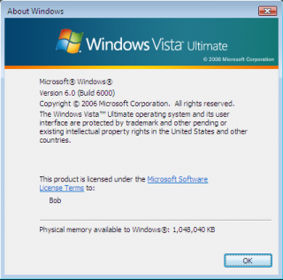 WinVer for Windows Vista
